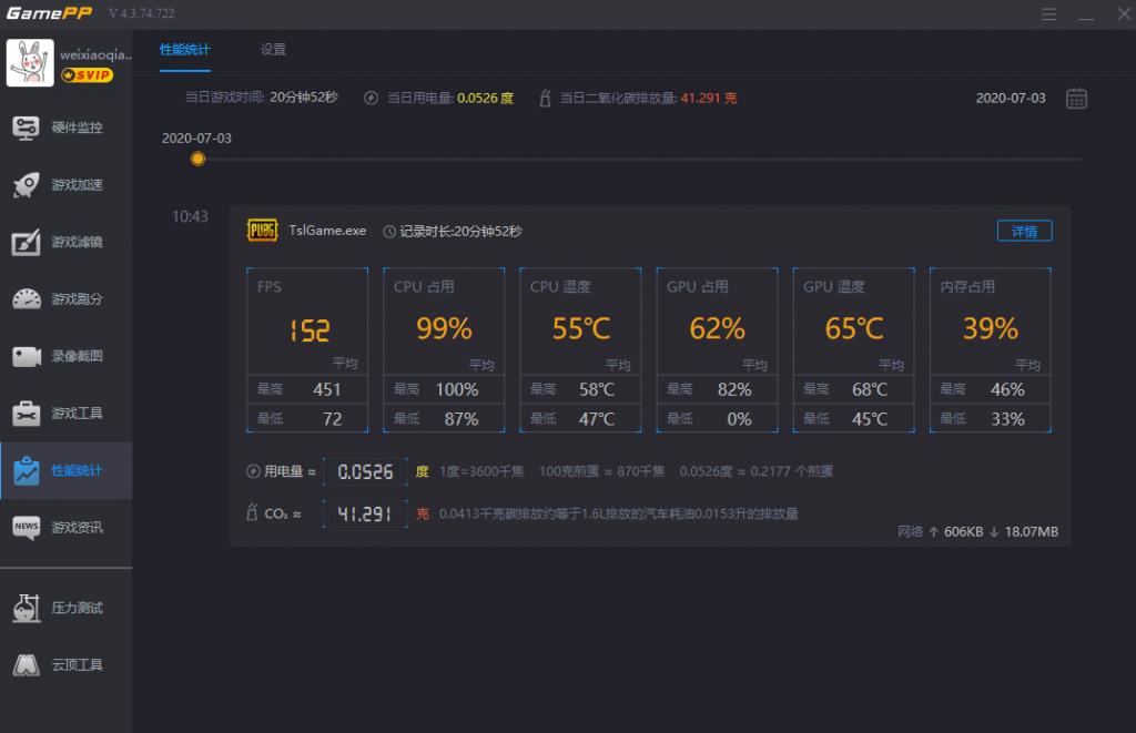 游戏加加性能分析统计报告