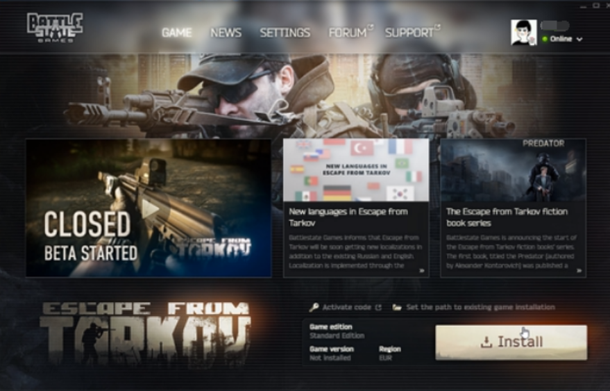 Battlestate平台游戏激活+安装教程