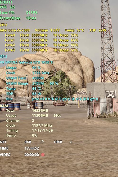 游戏内硬件信息实时检测数据含义,你都知道哪些?